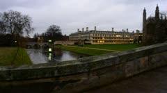 Cambridge University at evening Stock Footage