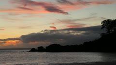 Black Rock at Kaanapali Beach dusk, Maui, Hawaii Stock Footage