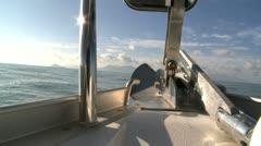 Sailing at sea Stock Footage
