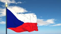 Flag Of Czechia Stock Footage