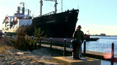 Sea term farewell; 4 Stock Footage