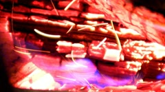 Exploding Embers Stock Footage