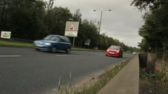 Cars on Dual carriageway Stock Footage