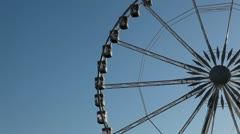 Place de la Concorde, Egyptian Obelisk, Ferris Wheel in Paris, France Stock Footage