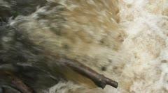Log Stuck In Waterfall HD Stock Footage