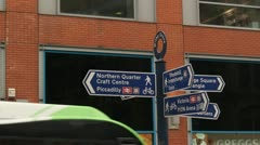 Signs - Manchester Northern Quarter - Picadilly Stock Footage