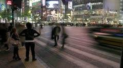 Sibuya, Tokyo. Scramble Crossing Timelapse Stock Footage