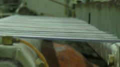 Fabric Cross Threading Machine Stock Footage