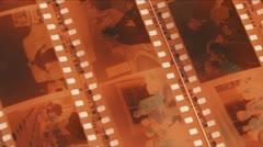 Film Strips Pan Stock Footage