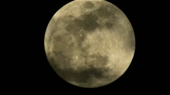Cloudy Full Moon Stock Footage