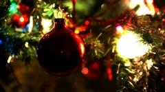 Christmas Tree Closeup Stock Footage