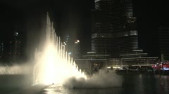 The Dubai Fountain Stock Footage