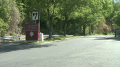 Sign outside University (2 of 3) Stock Footage