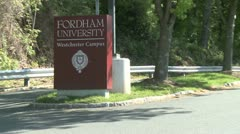 Sign outside University (1 of 3) Stock Footage