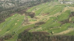Aerial Perspective of Golf Course on Hillside Stock Footage