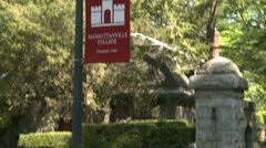 Sign out side small College  (1 of 2) Stock Footage