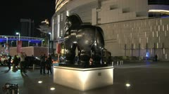 Horse statue near the Dubai Mall Stock Footage