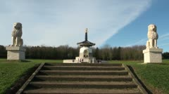 Peace Pagoda, Willen, Milton Keynes Stock Footage
