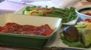 Food being displayed (2 of 2) Stock Footage