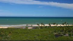 Beach in Trancoso, Brazil Stock Footage
