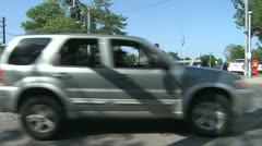 Traffic going through downtown  (3 of 4) Stock Footage