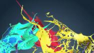 Stock Video Footage of Colored paint splashes seamless LOOP