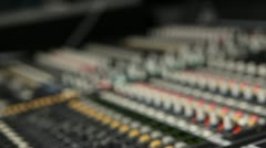 Tilt down main audio console Stock Footage