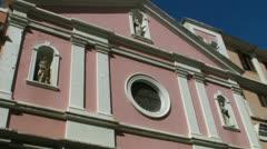Historic caribbean church facade Stock Footage
