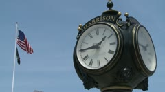 Large clock downtown (2 of 3) Stock Footage