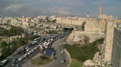 Traffic in Jerusalem - stock footage
