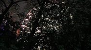 Stock Video Footage of huge Feris wheel from through trees