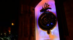 Large Abstract Clock Instilation in Cambridge Stock Footage