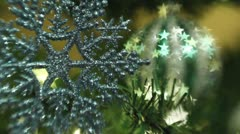 Snowflake and Rocking Ornament Lensbaby Stock Footage