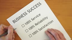 Checklist for Business Success Stock Footage