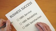 Stock Video Footage of Checklist for Business Success