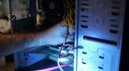 Fixing Computer Innards 03 Stock Footage