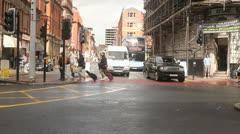Traffic on green light Stock Footage