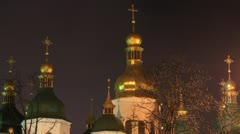 Saint Sophia Cathedral in Kiev timelapse Stock Footage