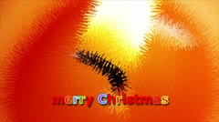 Marry Christmas - candle Stock Footage