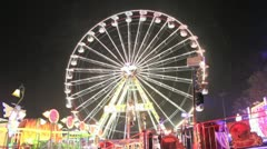 Fairground - ferris wheel timelapse 4000 speed Stock Footage