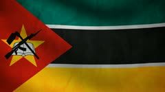 Mozambique flag. Stock Footage