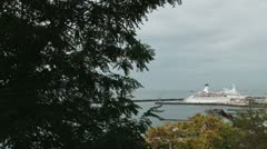 Cruise Ship in the Port Of Sochi Stock Footage