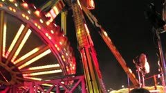 Extreme fairground ride -giant swing Stock Footage