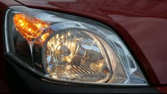 Car flashing indicator light (right side) Stock Footage