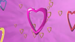 Multi-Colored Hearts Stock Footage
