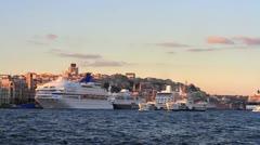 Karakoy Port, Istanbul Stock Footage