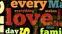 Love tags cloud loop - stock footage