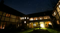 Mansion Courtyard Star Timelapse Stock Footage