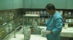 Textile Lab Work Stock Footage