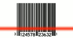 Bar Codes Scanned Looping Animated Background - stock footage